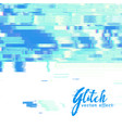 image glitch background vector image vector image