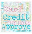 Instant Credit Card Approval Consumer Needs text vector image vector image