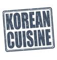 korean cuisine stamp vector image
