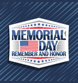 logo for memorial day vector image vector image