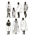 maasai couple african people vector image