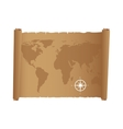map paper antique old vector image vector image