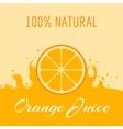 natural orange juice label template vector image