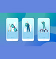 ophthalmologist doctor check eye health mobile app vector image vector image