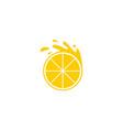 orange fruit fresh logo vector image vector image