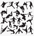 parkour silhouettes vector image vector image