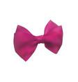pink bow out of satin ribbon decorative bowknot vector image vector image