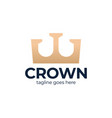 premium style abstract gold crown logo symbol vector image vector image
