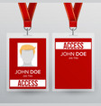press pass id card plastic badge template vector image