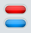 red and blue oval push buttons 3d web interface vector image