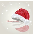 Santa hat Holiday card Merry Christmas vector image