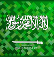 saudi arabia abstract pixel background vector image vector image