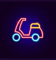 scooter neon sign vector image