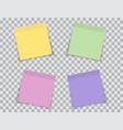 set color notes isolated on transparent vector image
