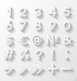 Set of decorative numbers and symbols vector image