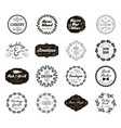 set various small business badges vector image vector image