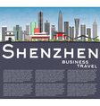 Shenzhen Skyline with Gray Buildings vector image vector image