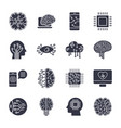 simple set artificial intelligence related line vector image vector image