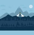 snowy mountain landscape vector image vector image