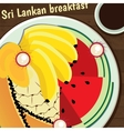 Sri Lankan breakfast vector image