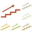 Stair with arrow vector image vector image