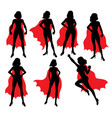 super girl activity silhouettes vector image vector image