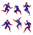 superhero action poses set vector image vector image