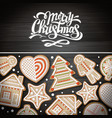 top view of merry christmas concept design vector image