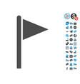 triangle flag pointer icon with free bonus vector image