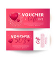 valentines day voucher vector image vector image