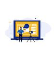 video vloger business concept web vlog design vector image vector image