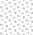 Weather sun clouds seamless pattern vector image vector image