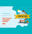 web page design template of distance education vector image vector image