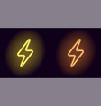 yellow and orange neon electric sign vector image