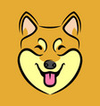 happy dog face vector image