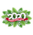 2020 paper cut christmas and tree branches vector image
