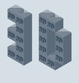 3D Printer icon made with 3d cubes 3d Printing vector image