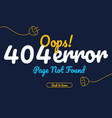 404 error page not found text vector image vector image