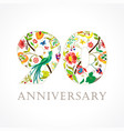 90 anniversary folk logo vector image vector image
