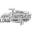 a guide to common loan terms text word cloud vector image vector image