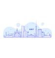 almaty skyline kazakhstan linear art city vector image vector image