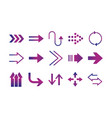 arrows direction guide cursor web navigation icons vector image vector image