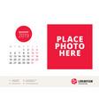 august 2019 desk calendar design template with vector image