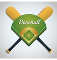 Bat and league of baseball sport design vector image vector image
