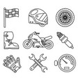 bike race sport championship motocross motorbike vector image