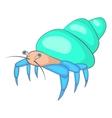 Blue hermit crab icon cartoon style vector image vector image