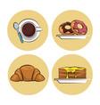 breakfast food icons vector image