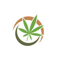 cannabis marijuana sign symbol vector image