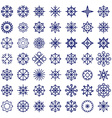 Christmas snowflake icons vector image vector image