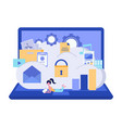 cloud storage security data storage security vector image